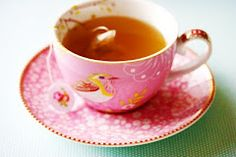 ❤this little pink teacup with the birdie: Afternoon tea - vintage style