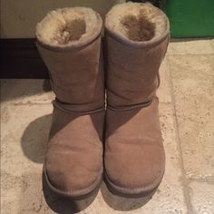 Sand/Beige Uggs Every time these have been used, I have cleaned them very well so they're in wonderful condition. No trades, returns, refunds or cancellations. Free gift and make an offer UGG Shoes Ankle Boots & Booties