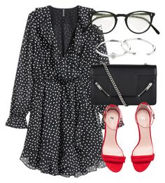 """""""Untitled #6721"""" by laurenmboot ❤ liked on Polyvore featuring H&M, Yves Saint Laurent, Oliver Peoples and Zimmermann"""