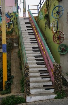 The Piano steps.... Think I'm going to do this to my basement steps