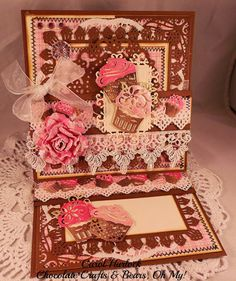 Chocolate Crafts and Bears, Oh My: CottageCutz Chocolate Cupcake Card