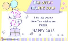 Belated Happy New Year Cards
