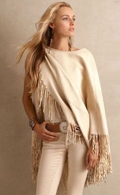 Fringe can be worn year-round! Throw a fringe wrap over your favorite basics for an instantly chic look!
