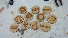 Video game coasters. | Source: https://www.reddit.com/r/gaming/comments/4p26yx/a_bit_late_but_heres_some_coasters_i_made_my/ #Gaming #VideoGames