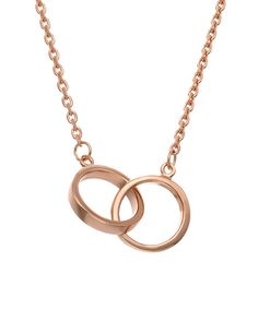 Look at this Rose Gold Double Ring Pendant Necklace on #zulily today!