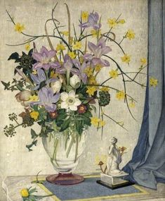 January Flowers, Maxwell Ashby Armfield (c.1881–1972) Russell-Cotes Art Gallery & Museum