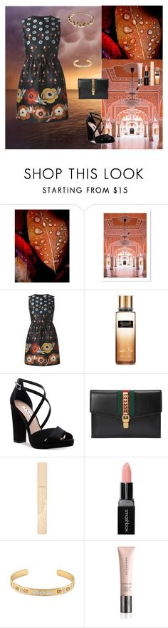 """Beautiful In This  World"" by oksana-kolesnyk ❤ liked on Polyvore featuring Seed Design, RED Valentino, Victoria's Secret, Nina, Gucci, Stila, Smashbox, Burberry and Jennifer Behr"