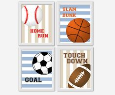 Sports Wall Art Boys Room Baseball by DezignerheartDesigns on Etsy