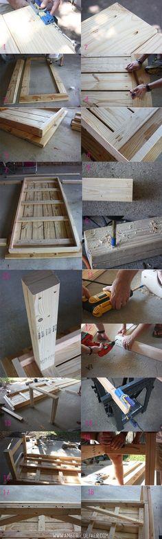 indoor outdoor DIY Farmhouse table plans with cut list