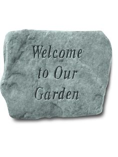 Outdoor Garden Wall Plaques And Stones: Kayberry: Welcome To Our Garden