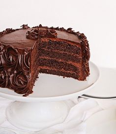 The Perfect Chocolate Cake and Perfect Chocolate Buttercream Frosting #chocolatecake #cake #buttercream #rosecake