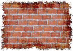 Wall, Cegieł Magnezytowych, Murowane, Ściany, Stary