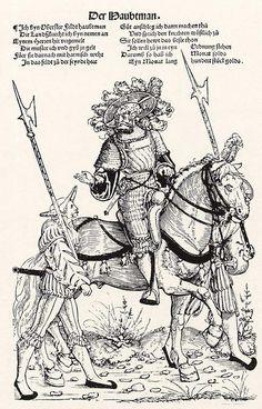 Heereszug der Landsknechte. Blatt 2. Der Haubtman (um 1535)