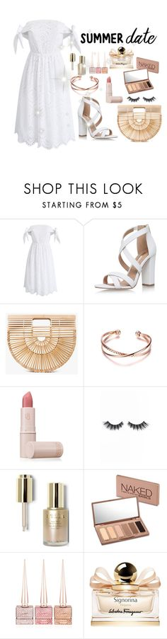 """Summer Date"" by ali-grace7 ❤ liked on Polyvore featuring Chicwish, Miss KG, Cult Gaia, Lipstick Queen, Violet Voss, Stila, Urban Decay, Christian Louboutin and Salvatore Ferragamo"