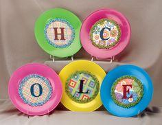 Initial Name Plate picnic #craft