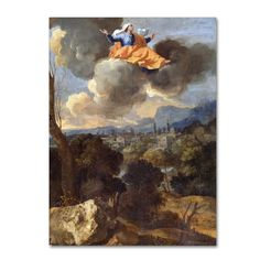 Nicolas Poussin 'The Translation Of Saint Rita Of Cascia' Canvas Art
