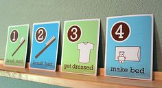 DIY - Free Printable - The Morning Routine - perfect for the kids' bedroom!