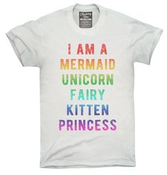 I Am A Mermaid Unicorn Kitten Fairy Princess T-Shirt Hoodie Tank Top - Princess T Shirt - Ideas of Princess T Shirt - I Am A Mermaid Unicorn Kitten Fairy Princess Shirt Hoodies Tanktops I Am A Unicorn, Rainbow Unicorn, Happy Unicorn, Unicorn Dress, Unicorn Shirt, Unicorn Birthday Parties, Unicorn Party, Unicorn Gifts, Funny Shirts