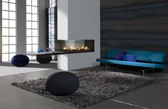 Hole in the Wall Gas Fires Surrey, Hole In Wall Fires London, Grate Expectations Modern Fireplace Tiles, Fireplace Design, Glass Fronted Gas Fire, Wall Gas Fires, Cool House Designs, Interior Design, Decoration, Furniture, Home Decor