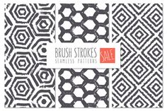 Brush Strokes Seamless Patterns SALE - Patterns - 1
