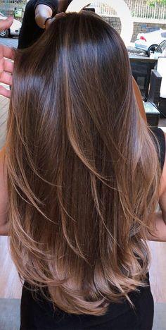 Brown Hair Balayage, Brown Blonde Hair, Light Brown Hair, Hair Color Balayage, Haircolor, Haircuts Straight Hair, Long Hair Cuts, Long Hair Styles, Layers For Short Hair