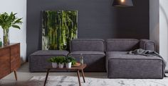 Quadra Carbon Gray Right Sectional - Sectionals - Article | Modern, Mid-Century and Scandinavian Furniture