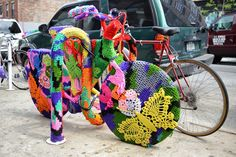 crocheted bicycle