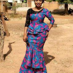 Ankara lace kaba and slit fashion, African fashion, Ankara, kitenge, African women dresses… – African Fashion Dresses - 2019 Trends Latest African Fashion Dresses, African Print Dresses, African Dresses For Women, African Print Fashion, Africa Fashion, African Attire, African Prints, African Women, Men's Fashion