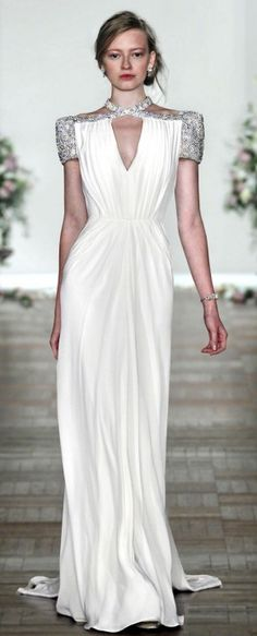 jenny packham.  love the sharp shoulder.  femme but modern.