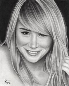 """Graphite on bristol paper. Approximately 7.5"""" x 9.5"""" Here's my portrait drawing of the gorgeous model and TV personality. The drawing is based on her photoshoot for Esquire magazine."""