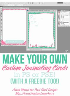Make Your Own Journaling Cards Tutorial + Free Card