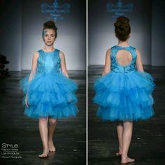 Loren Franco Designs Springs/Summer 2016 - tween girl blue dress