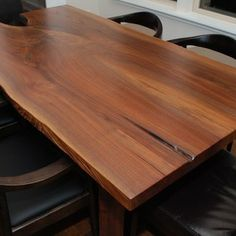 Escade Live Edge Dining Table - book-matched slab