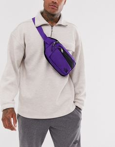 The North Face – Bozer – Gürteltasche in Violett The North FaceThe North Face The North Face, Bum Bag, Purple Fashion, Discount Shopping, Fanny Pack, Sling Backpack, Latest Trends, Asos Men, Bags