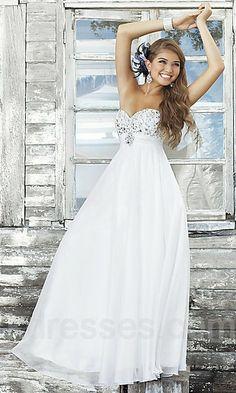 Prom dress but maybe like a light teal color at the bottom & white on top