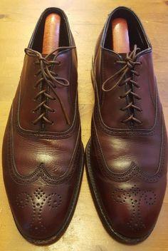 Vintage, Foot Joy, Cordovan Burgundy, Leather, Wing Tips (Size 9C) #FootJoy…