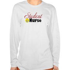 Smiley Face Student Nurse Tee T Shirt, Hoodie Sweatshirt