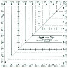 Quilt-in-a-day Square Up Ruler