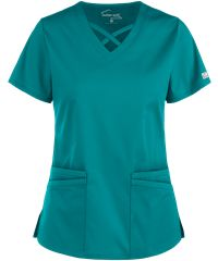 Be fashionable and flexible all day long with the UA Butter-Soft STRETCH Criss Cross Scrub Top. Find great fashion scrub tops today, only at Uniform Advantage! Scrubs Outfit, Scrubs Uniform, Criss Cross, Scrub Skirts, Yoga Scrub Pants, Cute Scrubs, Uniform Advantage, Greys Anatomy Scrubs, Scrub Jackets