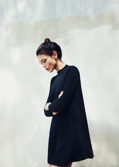 #vestido #vestidocurto #minimalismo #preto #golaalta
