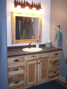 Hickory Vanity By Swita Cabinetry.