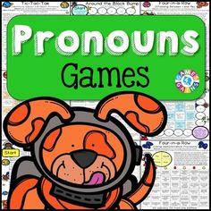 Pronouns Games {Subject and Object Pronouns, Possessive Pronouns, Relative. Possessive Pronouns, Teaching Pronouns, Demonstrative Pronouns, Relative Pronouns, Teaching Phonics, Adjective Games, Pronoun Activities, Pronoun Worksheets