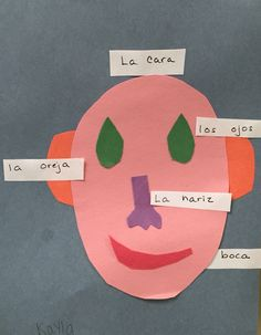 Learning the Spanish words for facial features. #spanish #brookeside #montessori