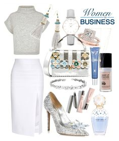 """""""Expensive Business Boss"""" by rinnygw-1 ❤ liked on Polyvore featuring Cushnie Et Ochs, Jaeger, Suzanne Kalan, CLUSE, Allurez, Jimmy Choo, Fendi, Marc Jacobs and Natalie B"""