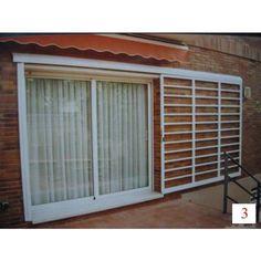 rejas hierro y forja correderas en ventanas de aluminio: