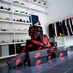and theirs pile of Jordans.