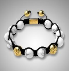 africa handmade shamballa  bracelet with gold accessories and white beads // Price: $8.95 & FREE Shipping Worldwide //     #shoes #heels #styles #outfit #purse #jewelry #shopping #glam