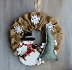 Dachshund Winter Wreath Maddox and Frosty by MaxMinnieandMe
