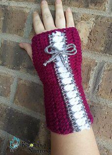 Corset Fingerless Gloves by Amber Schaaf