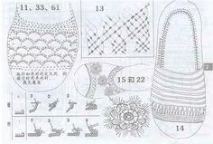 patrones de sandalias a crochet